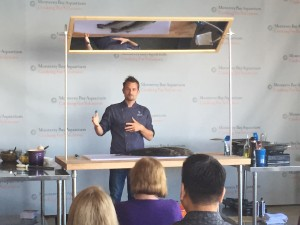 Kuterra salmon cooking demo