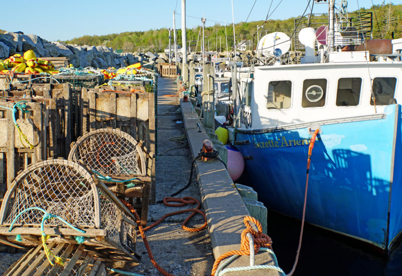 Photo: Dennis Jarvis, Lobster boats, NS